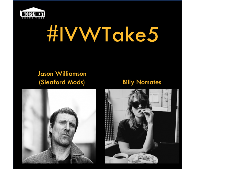 #IVWTake5 Jason Williamson (Sleaford Mods) chats with Billy Nomates