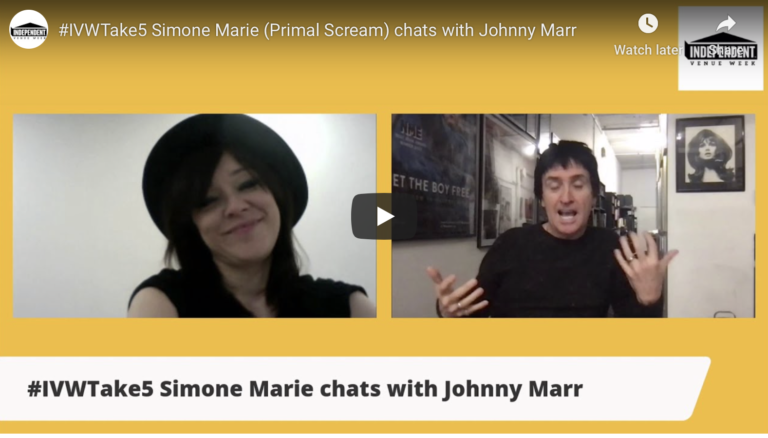 #IVWTake5 Simone Marie (Primal Scream) chats with Johnny Marr