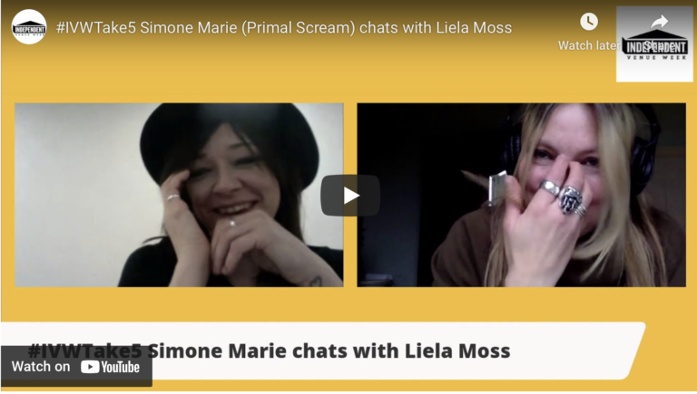 #IVWTake5 Simone Marie (Primal Scream) chats with Liela Moss