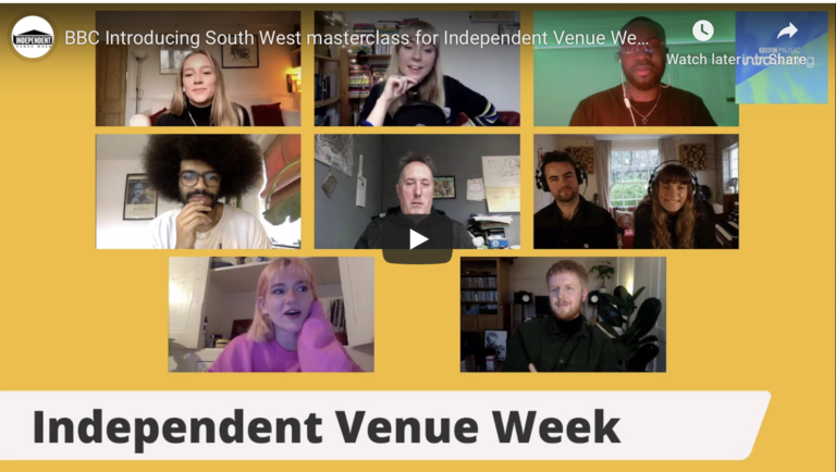 BBC Introducing South West masterclass for Independent Venue Week