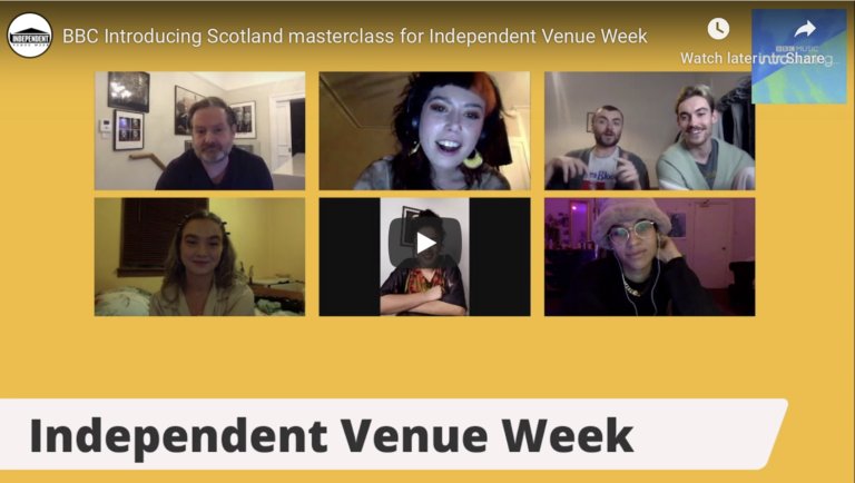 BBC Introducing Scotland masterclass for Independent Venue Week