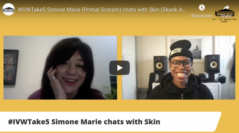 #IVWTake5 Simone Marie (Primal Scream) chats with Skin (Skunk Anansie)